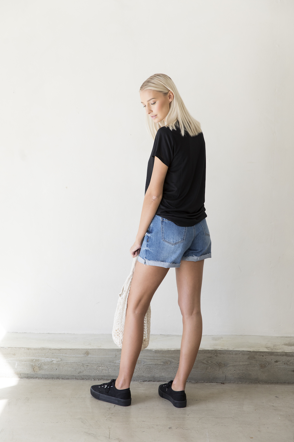 Lola denim shorts