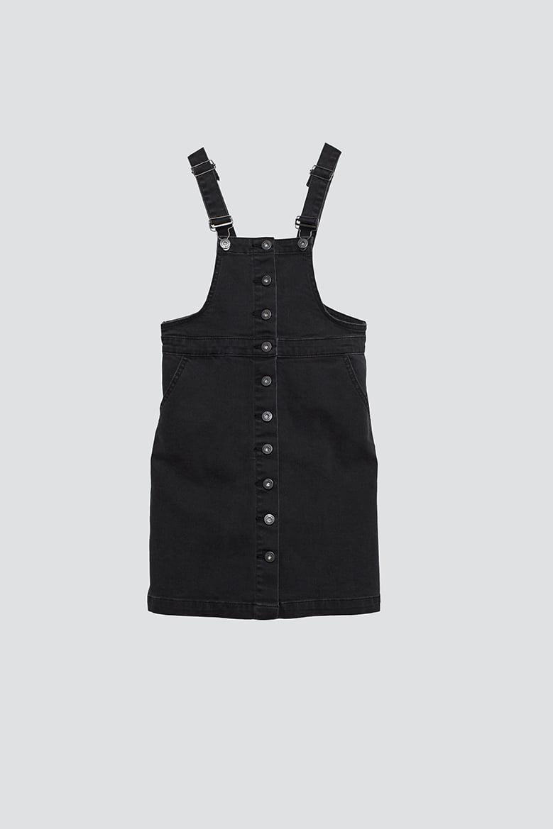 Ava denim dress, black
