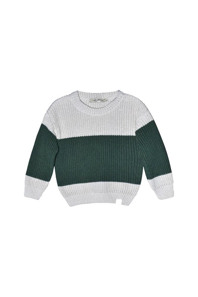 Bo block knitted sweater