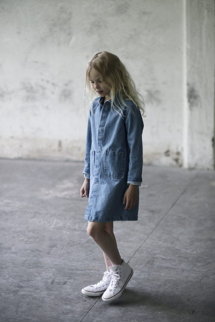 Liana denim coat, denim blue