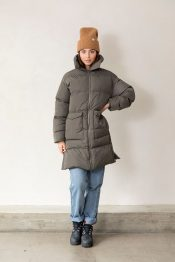 Clay long puffer jacket