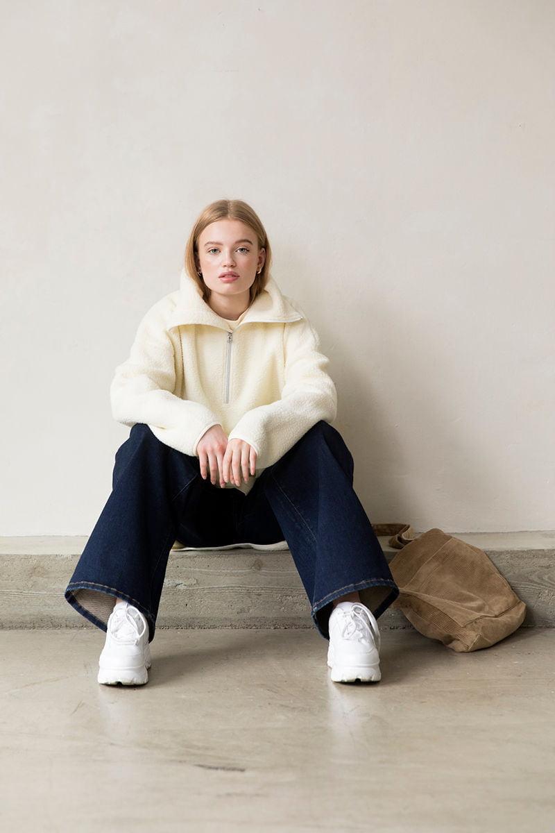 Clou oversized pile jacket