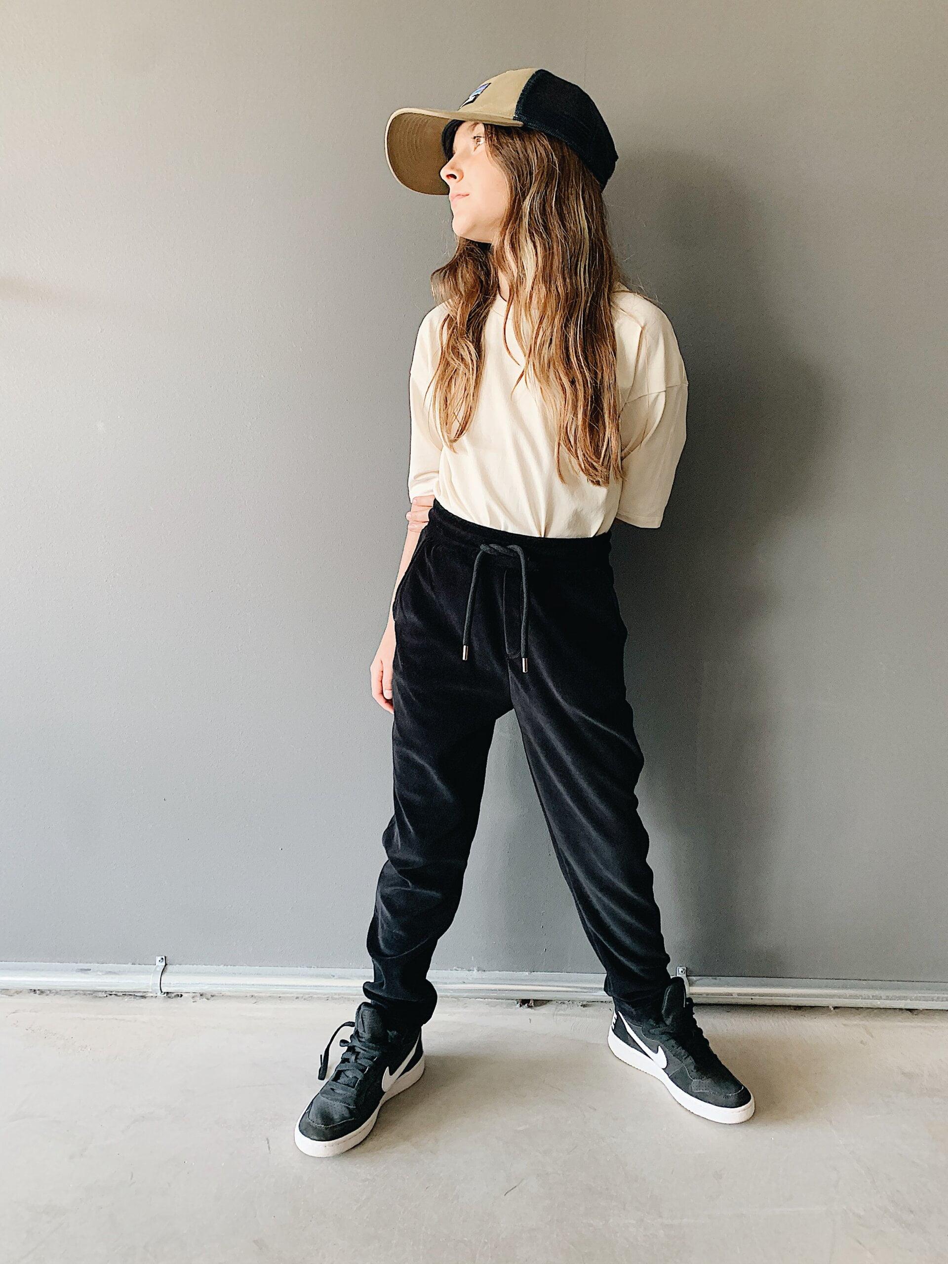 Ash velour pant
