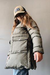 Clay long puffer jacket