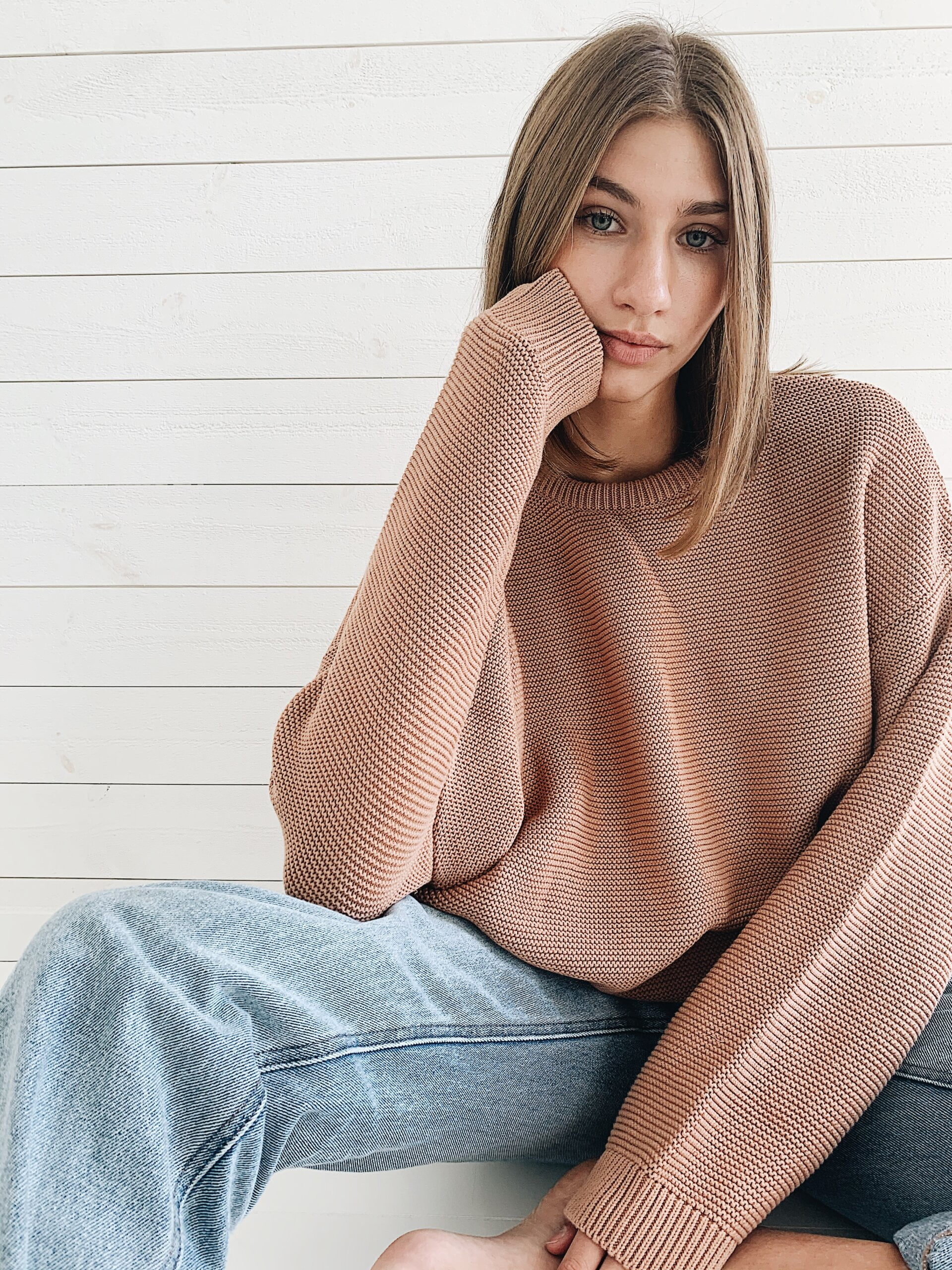 Mist knitted sweater