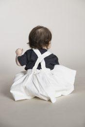 Straw organic denim skirt