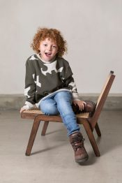 Stone jaquard knitted sweater
