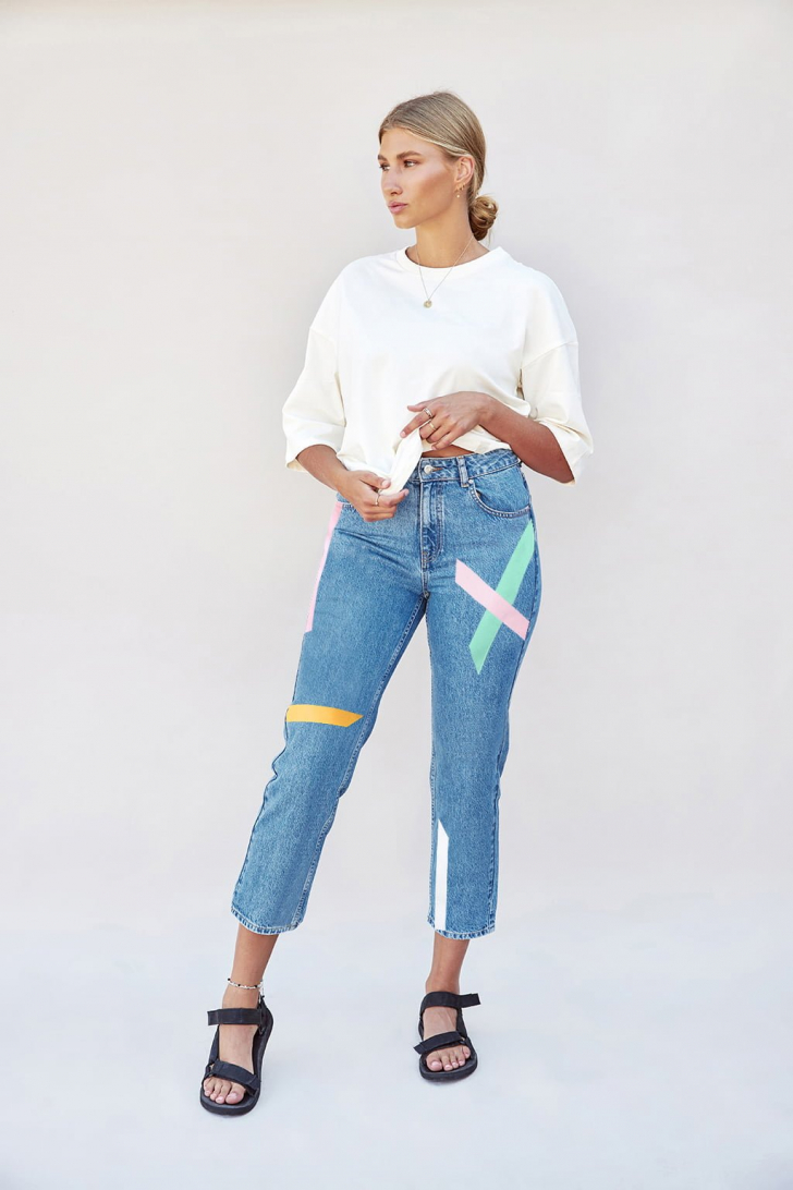 Max taped organic jeans