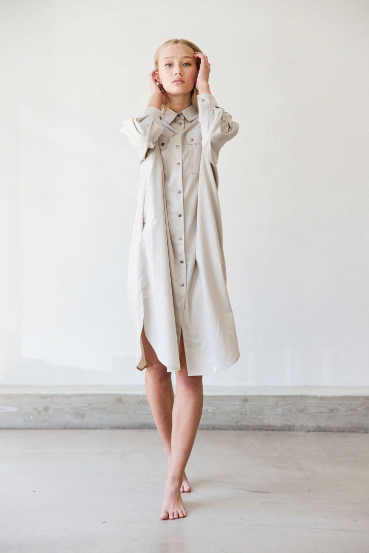 Moa oversized shirt dress
